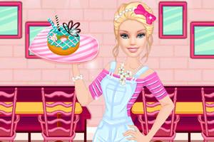 粉红芭比的甜品店