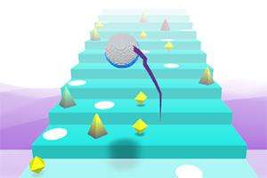 圆球上阶梯