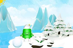 小雪人滚雪球