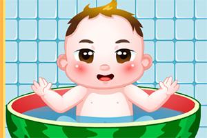 快乐宝宝爱洗澡
