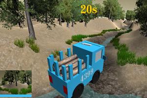 木材运输专家3D:雨后水坑