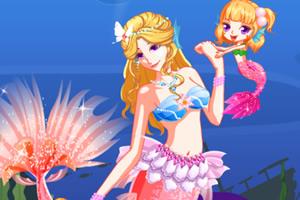 美人鱼公主靓丽装扮