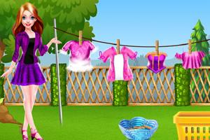 妈妈和小宝宝洗衣日