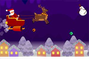 圣诞老人打雪人