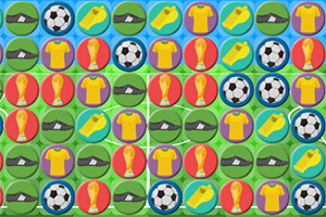 卡通足球对对碰