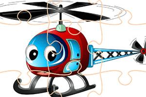 卡通直升机拼图