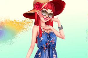 时尚的花季女孩