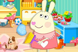 兔宝宝打扫娃娃屋