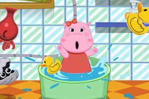 河马宝宝要洗澡