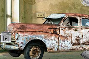 逃离破旧的车库
