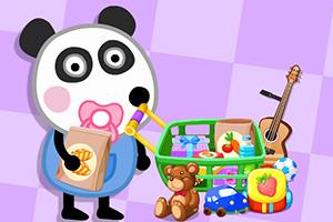 熊猫宝宝超市购物