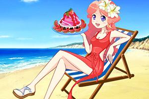 甜美小姐姐去度假
