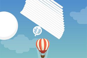 上升的热气球