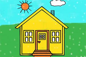 房屋彩绘本