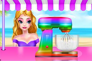美味彩虹冰沙