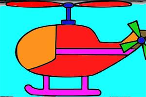直升机图画册