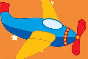 卡通飞机找星星