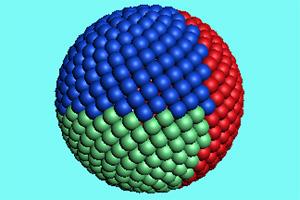 五彩的颜料球