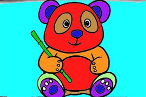 可爱熊猫图画册