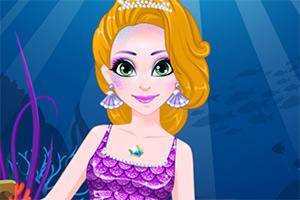 長發公主美人魚妝容