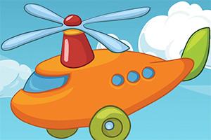 卡通直升机拼一拼