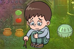救援哭泣的小男孩