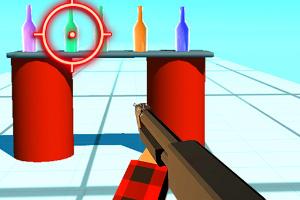 手枪射瓶子
