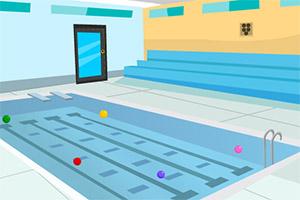 逃离无人的泳池