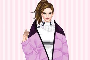 时尚的冬季运动服