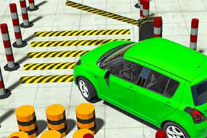 轿车停车大考验