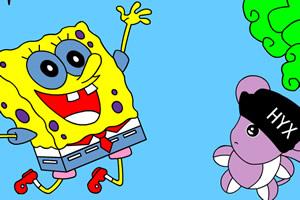 SpongeBobs make new friends
