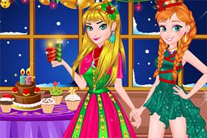温暖的圣诞晚会