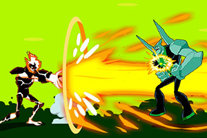 Fighting Ben 10 King